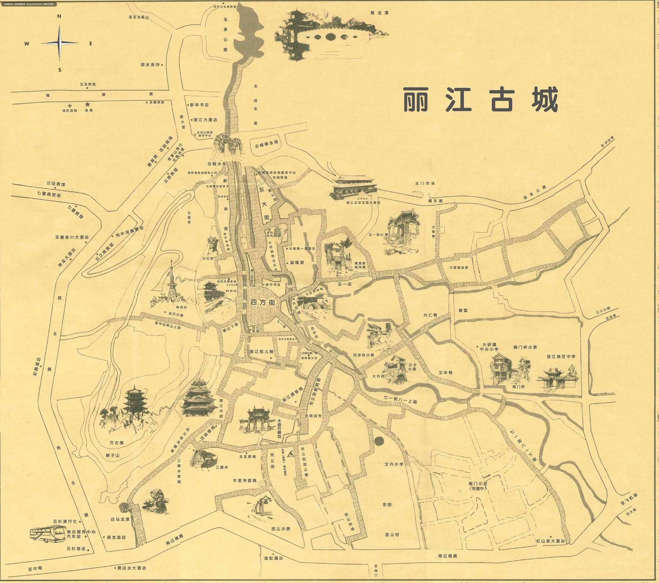 麗江古城 - 雲南旅遊地圖 中國地圖 - 美景旅遊網