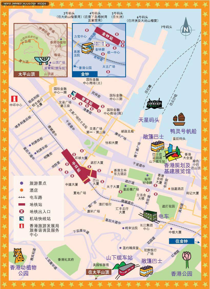 香港中環地圖 - 香港地圖 Hongkong Map - 美景旅遊網