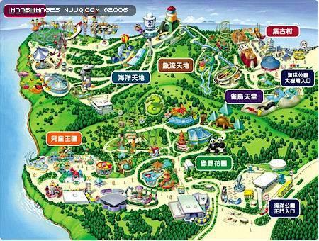 香港海洋公園 - 香港地圖 Hongkong Map - 美景旅遊網