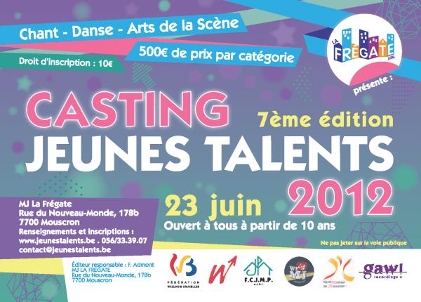 Jeunes Talents 2012 – Les inscriptions sont ouvertes