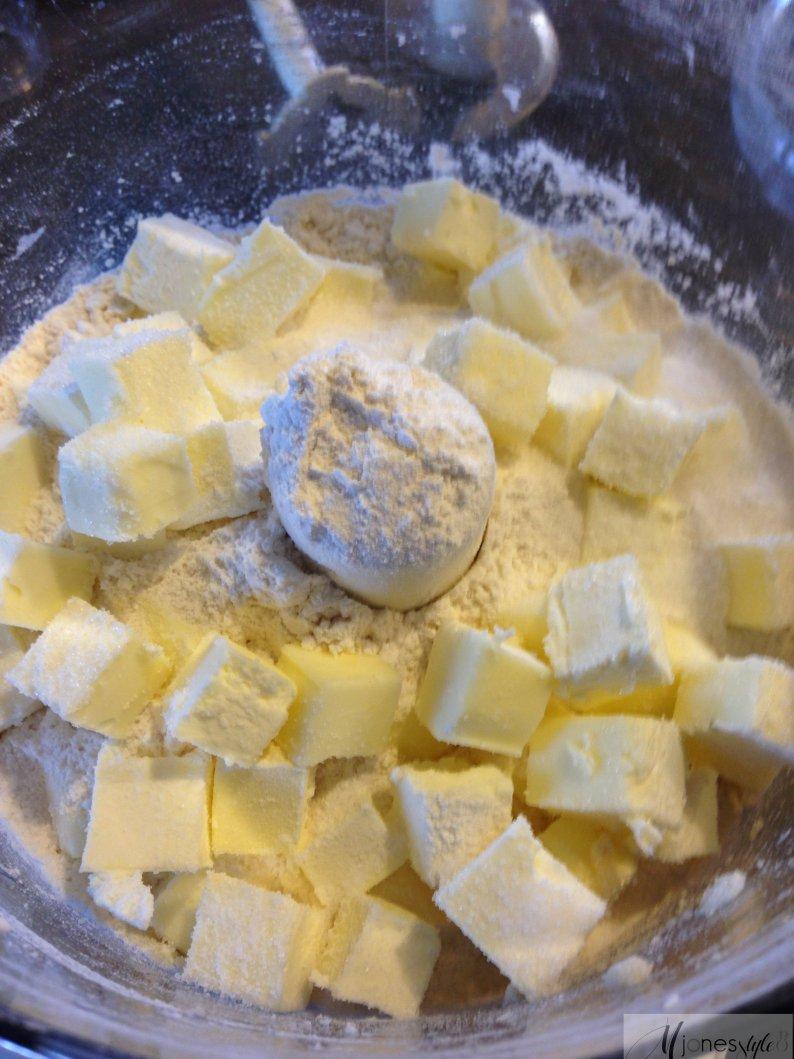 Flour, salt and cold butter.