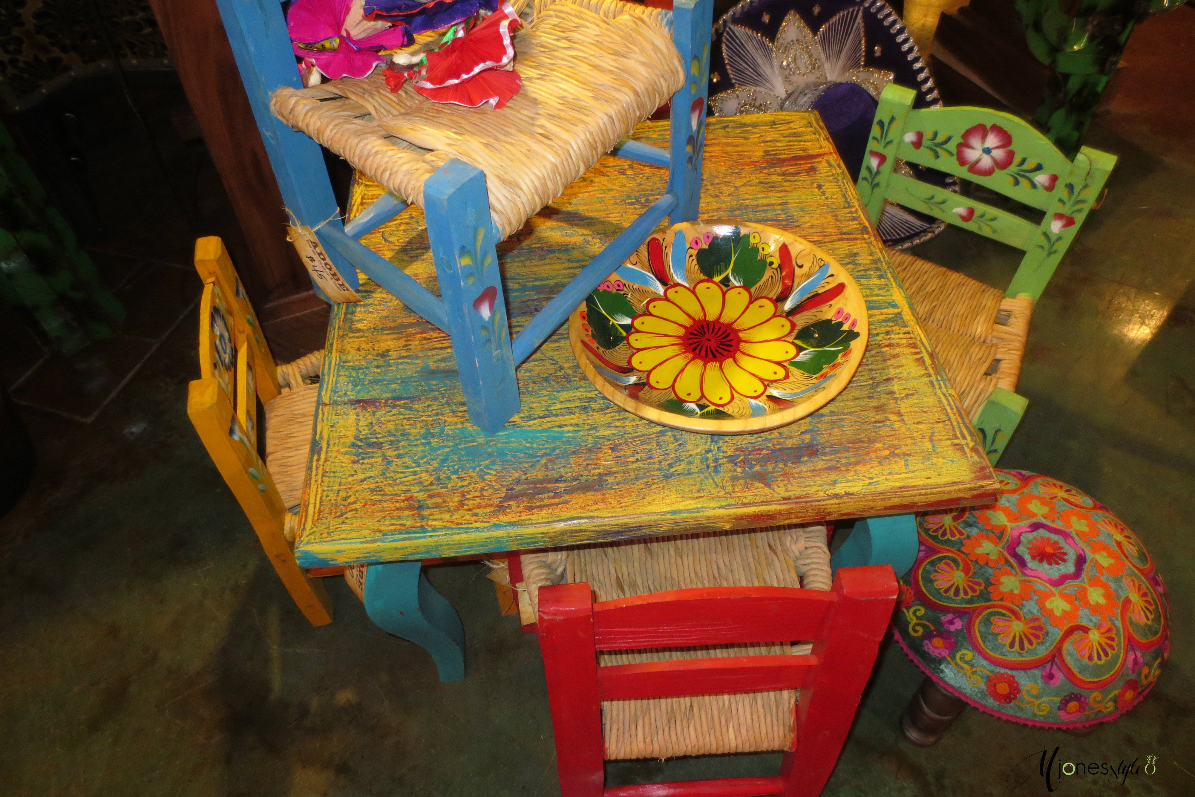 Letu0027s Not Leave The Kiddou0027s Out. Spanish Style Table And Chair Set For Tea  Parties