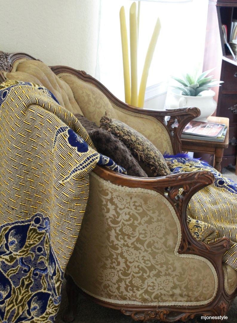 #antiquechair #eclecticbedroom