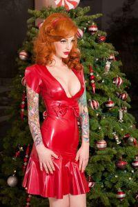 Red Latex Dress For Xmas 200x300 Jpg
