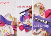printed ribbon hair bow tutorial