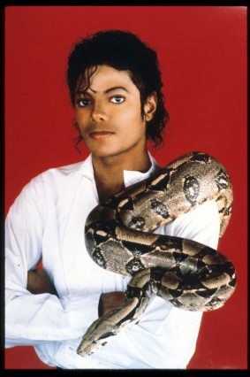 Michael Jackson - With Pet Snake
