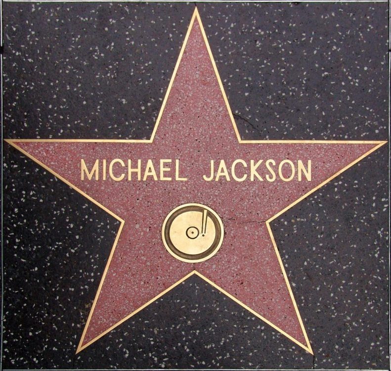Michael's Hollywood Walk of Fame star