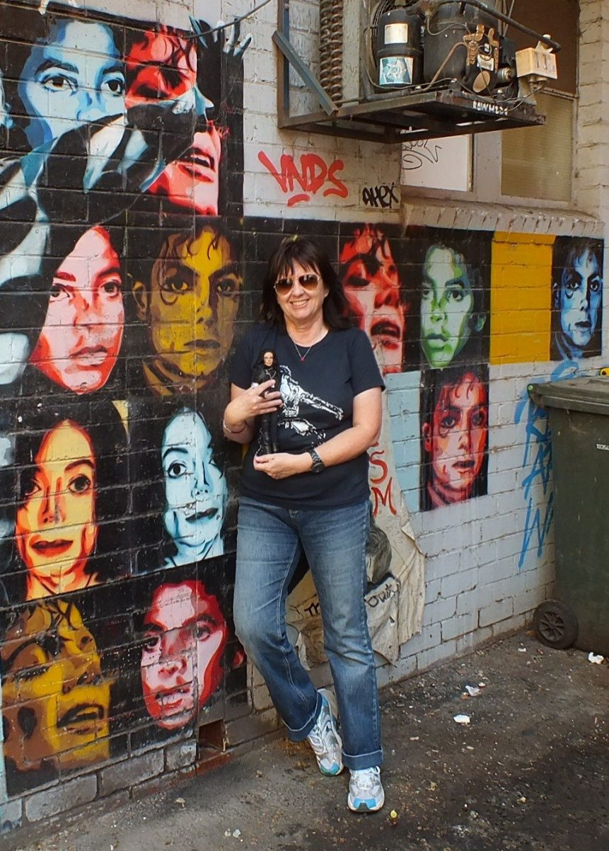 * MJ wall Chinatown Melbourne