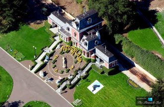 An aerial view of the Neverland Ranch of US pop singer Michael Jackson in Santa Ynez
