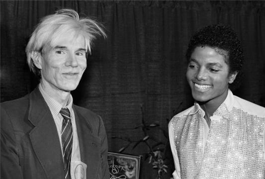 Andy Warhol with Michael