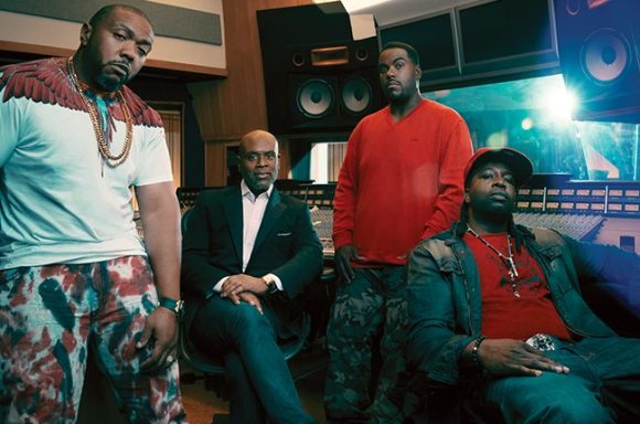 THE XSCAPE TEAM: TIMBALAND, L.A. REID, RODNEY JERKINS, J-ROC