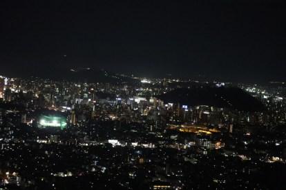 【愛媛】淡路が峠展望デッキからの夜景