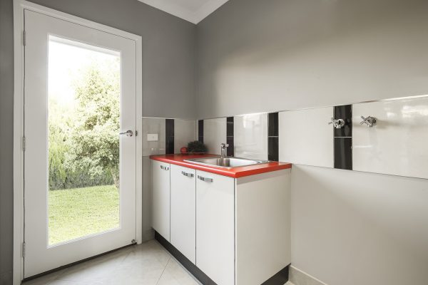 new laundry cabinets in retro style
