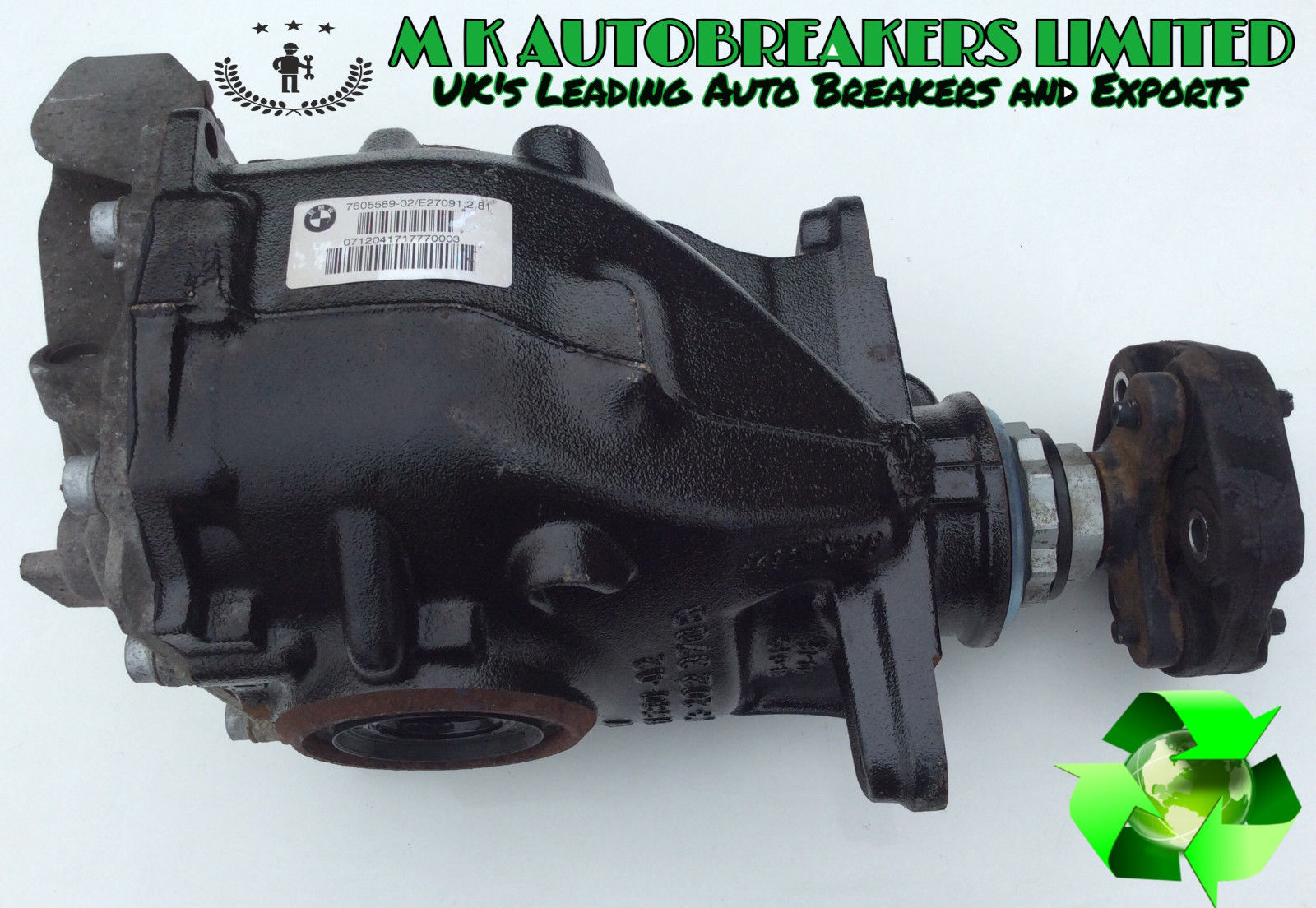 Bmw F30 From 12 15 Rear Diff Differential Assy Breaking For Spare