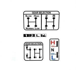 GEAR PTO SELECTION DECAL FITS DAVID BROWN 770 780 880 885