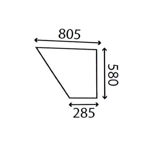 LOWER R/H DOOR GLASS FITS DAVID BROWN 1390 1490 1690 1294