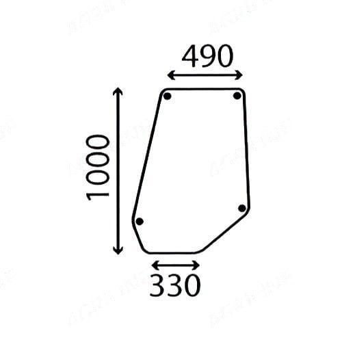 DOOR GLASS FITS MASSEY FERGUSON 675 690 698 698T 699
