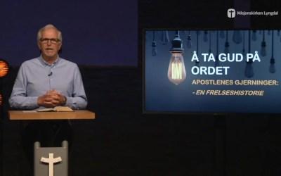 «Å ta Gud på ordet» av pastor Eilif Tveit