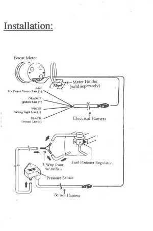Greddy Boost Gauge Wiring
