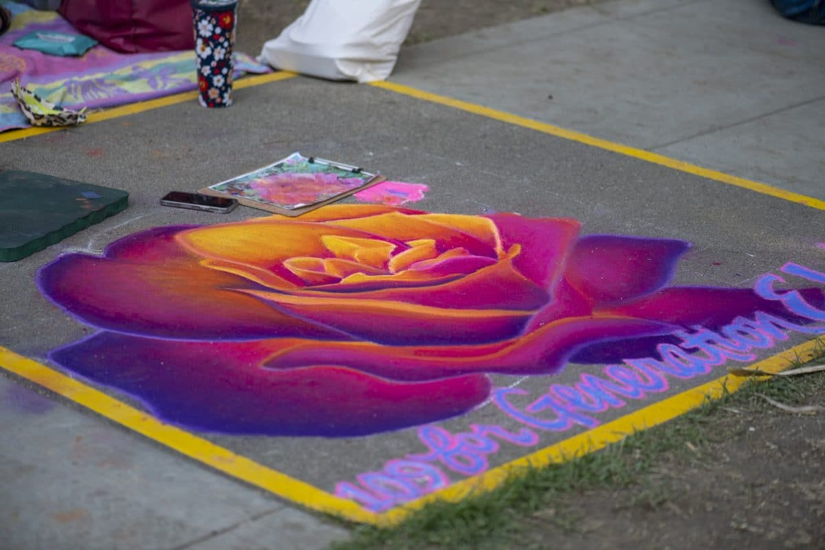 The chalk it up sacramento art festival: an artist's perspective 8 apart from drawing hop-scotch squares as a child, i had zero experience creating chalk art before participating in this year's chalk it up festival in sacramento.