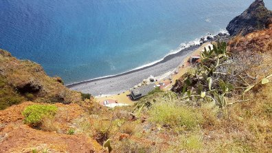 Praia de Caniço, en bas du Cristo Rei