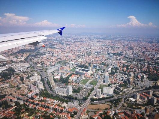 Survol de Porto avant atterrissage