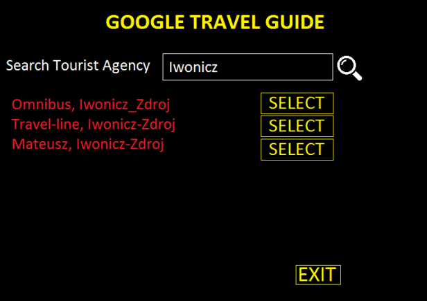 Google Travel Guide searching tool 2