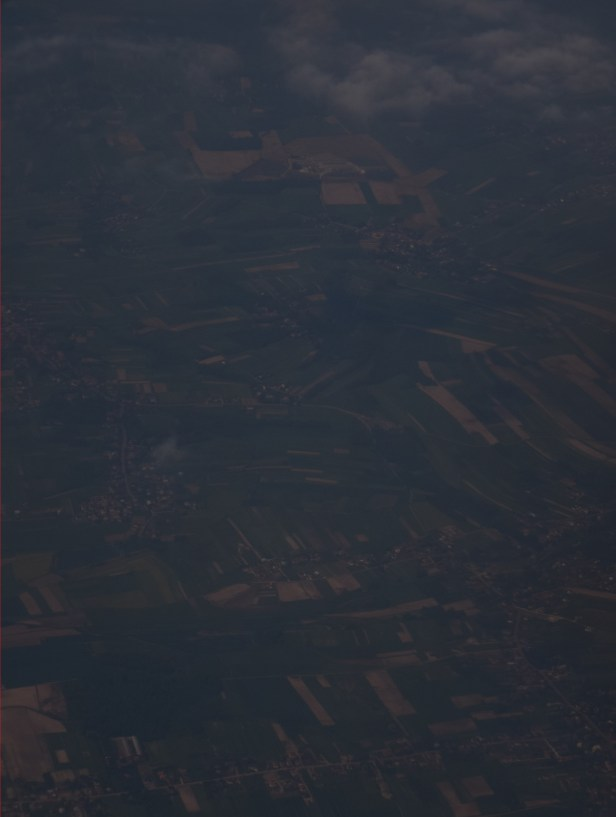 Lesser Poland foothills seen from Ryanair, cropped image