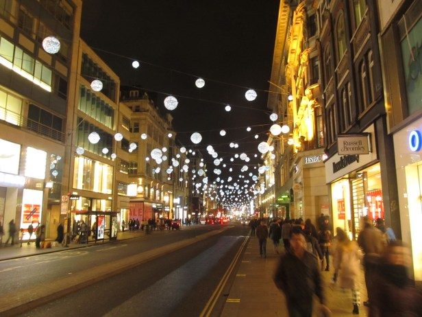 London Oxford Street New Year's Eve 2014