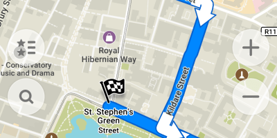 Dublin sightseeing route Maps Me app