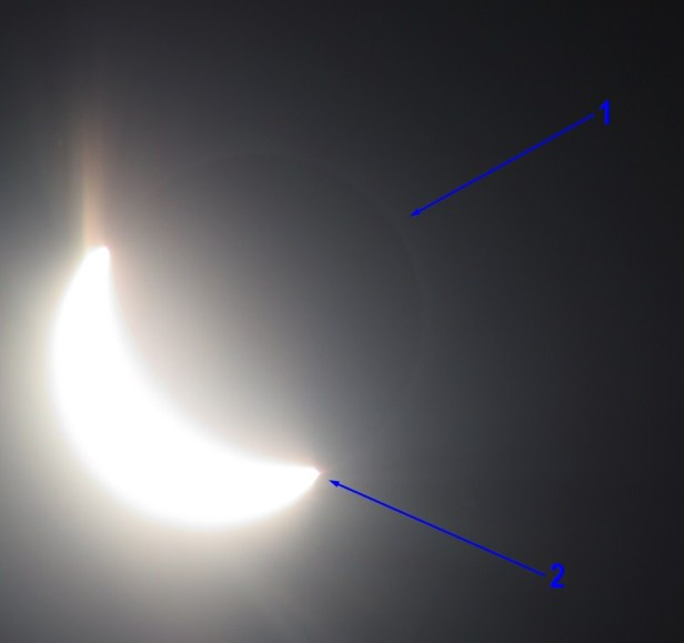 Total solar eclipse 2017 solar corona outside the totality