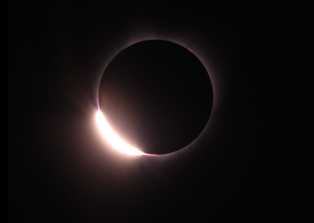 2017 total solar eclipse just before totality