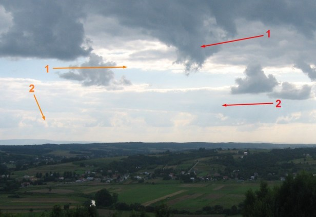 Reflected light attenuation in Earth's atmosphere caused by haze concentration