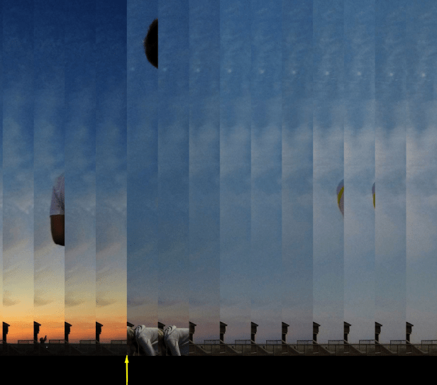 Light transition during 2017 total solar eclipse shadow out sky