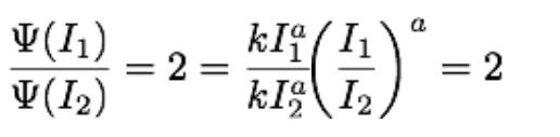 Stevens brighthess law formula