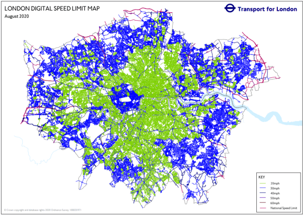 City of London Speed limit map