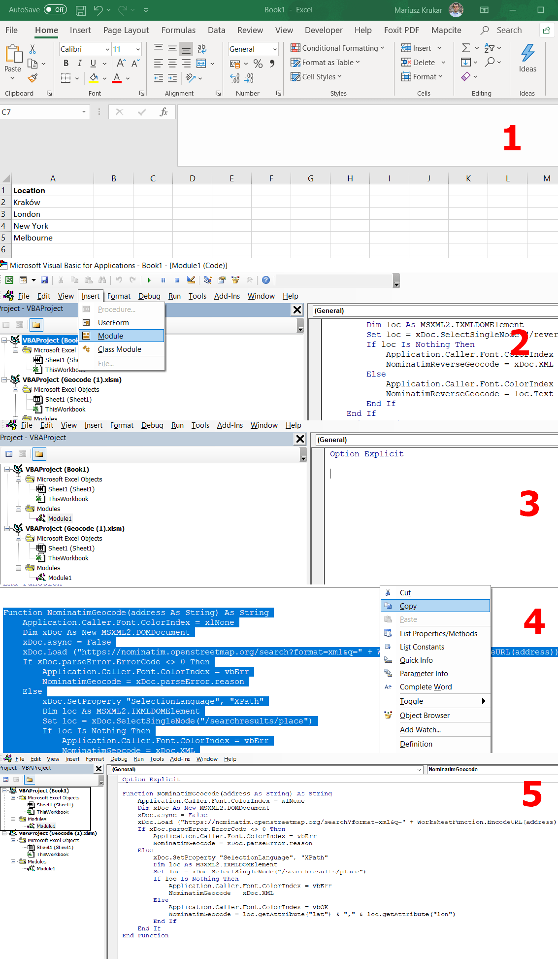 The Costless Way To Geocoding Addresses In Excel Part 3