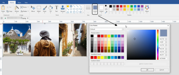 PicPick color selection image processing