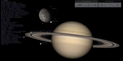 Mercury and Saturn great conjunction