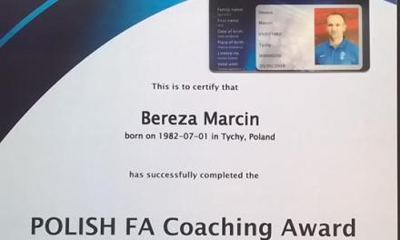 Marcin Bereza z licencją UEFA A