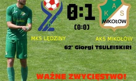 AKS Mikołów nadal liderem po wygranej w Lędzinach (+ skrót meczu)