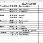 Treningi młodzieży w dniach 01-05 luty br.