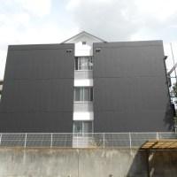 アパートの白黒デザイナーズ外壁塗装
