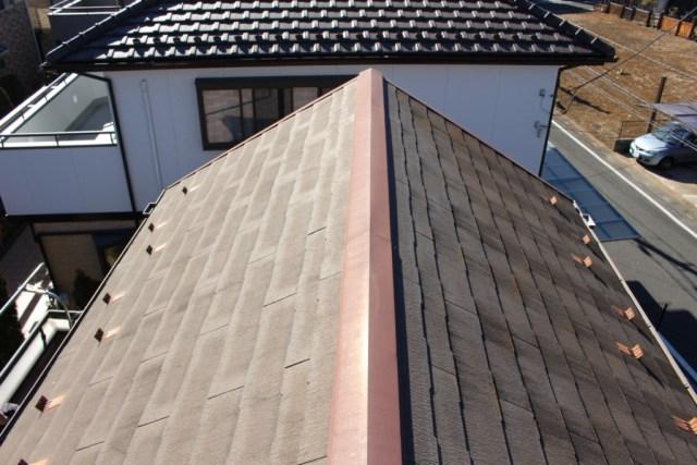 パサパサに弱くなった屋根