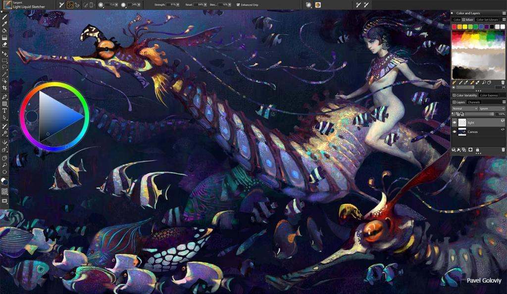 Screenshot of an illustration created using Corel Painter illustration software