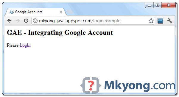 GAE integrating google account and run it on GAE