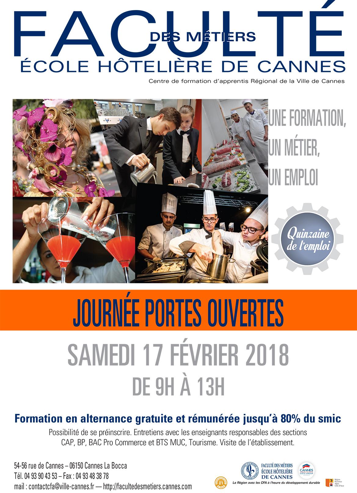 Journée Portes Ouvertes Faculté des Métiers de Cannes