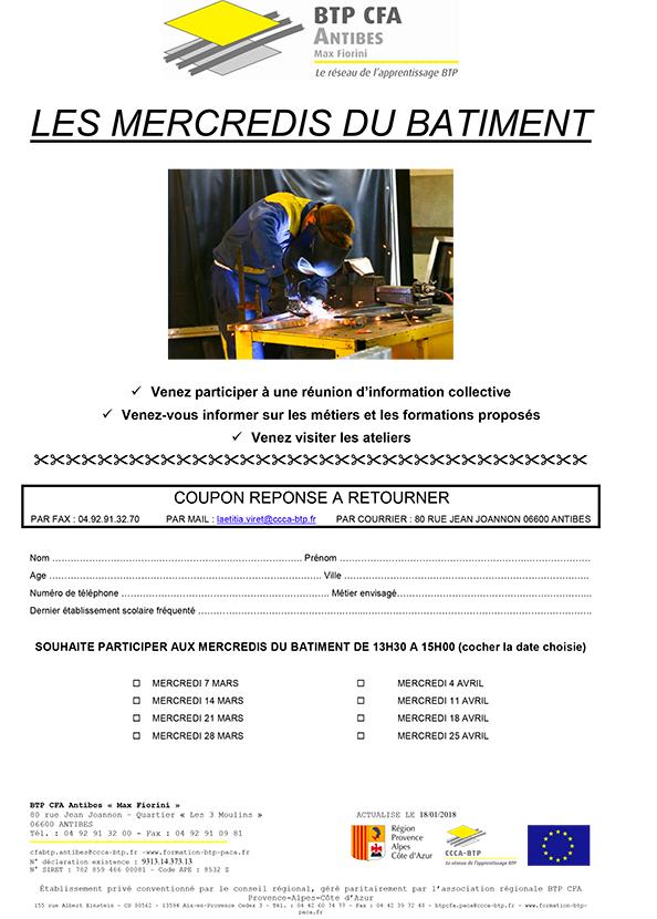 CFA ANTIBES MERCREDI DU BATIMENT 2018