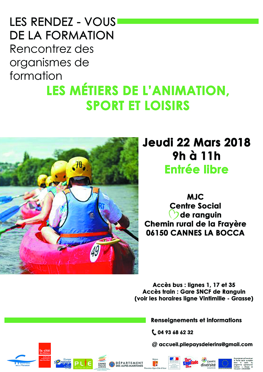 Formation Metiers ANIMATION SPORT ET LOISIRS
