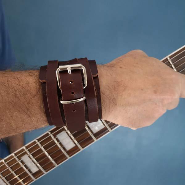 Bracelet cuir marron